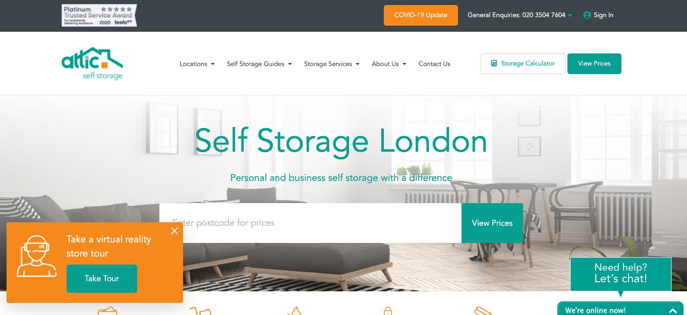 Attic Self Storage online services