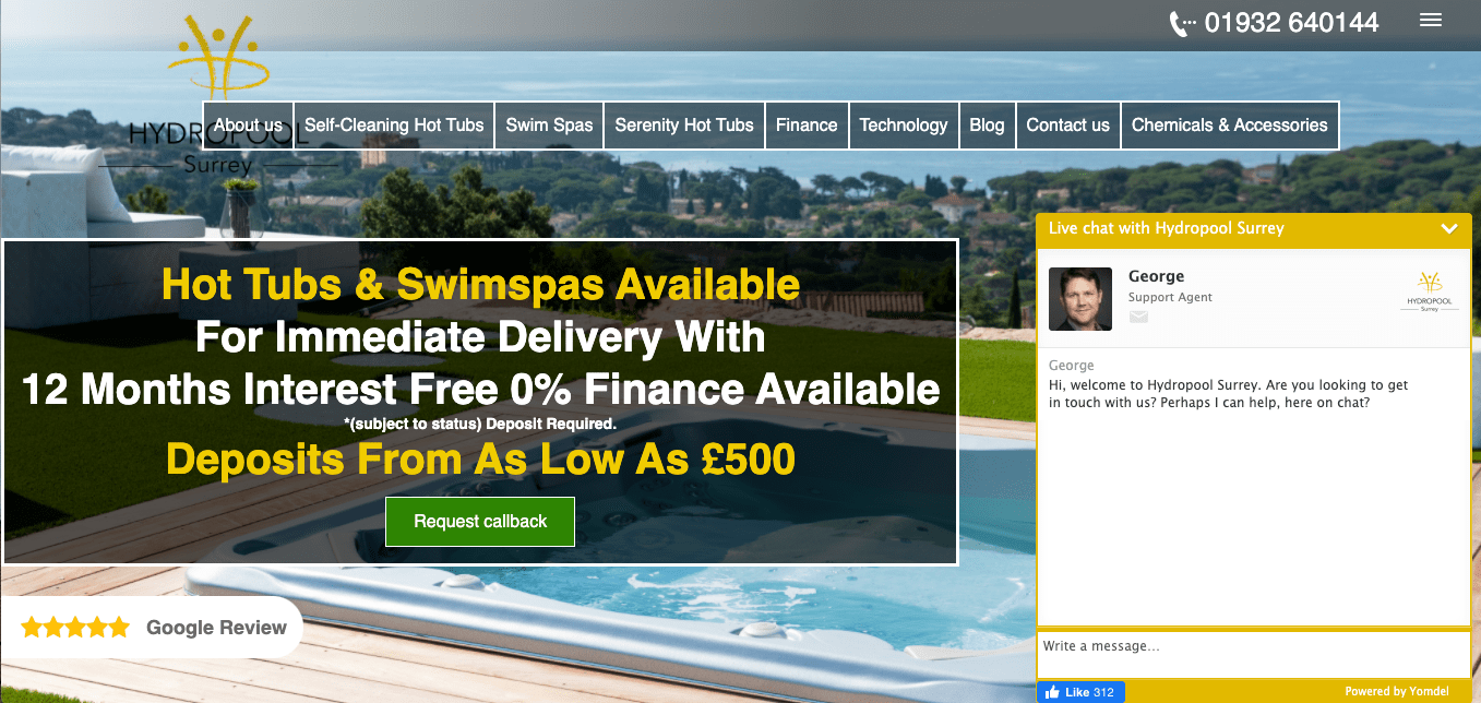 Hydropool Hot tubs and spas online