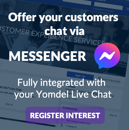 Yomdel live chat with messenger integration