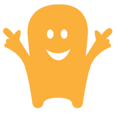 Yellow Yomdel character square 900
