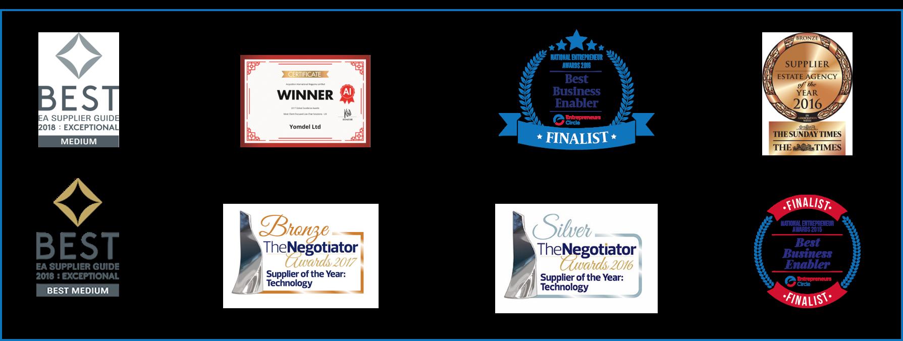Awards logos - slim