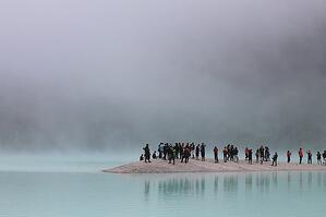 People stranded on an island