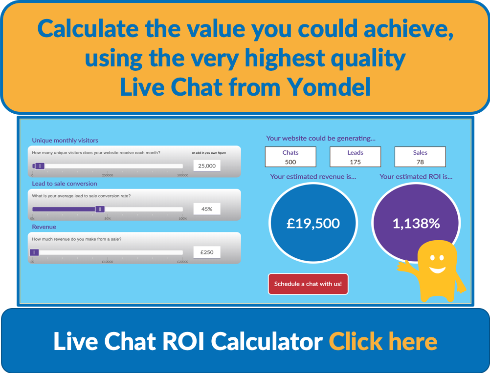 calculate return on live chat